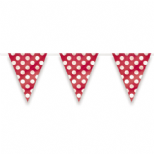 Red Dots Flag Banner 12ft (1pc)